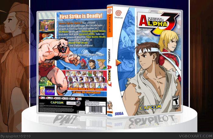 Street Fighter Alpha 3 box art cover
