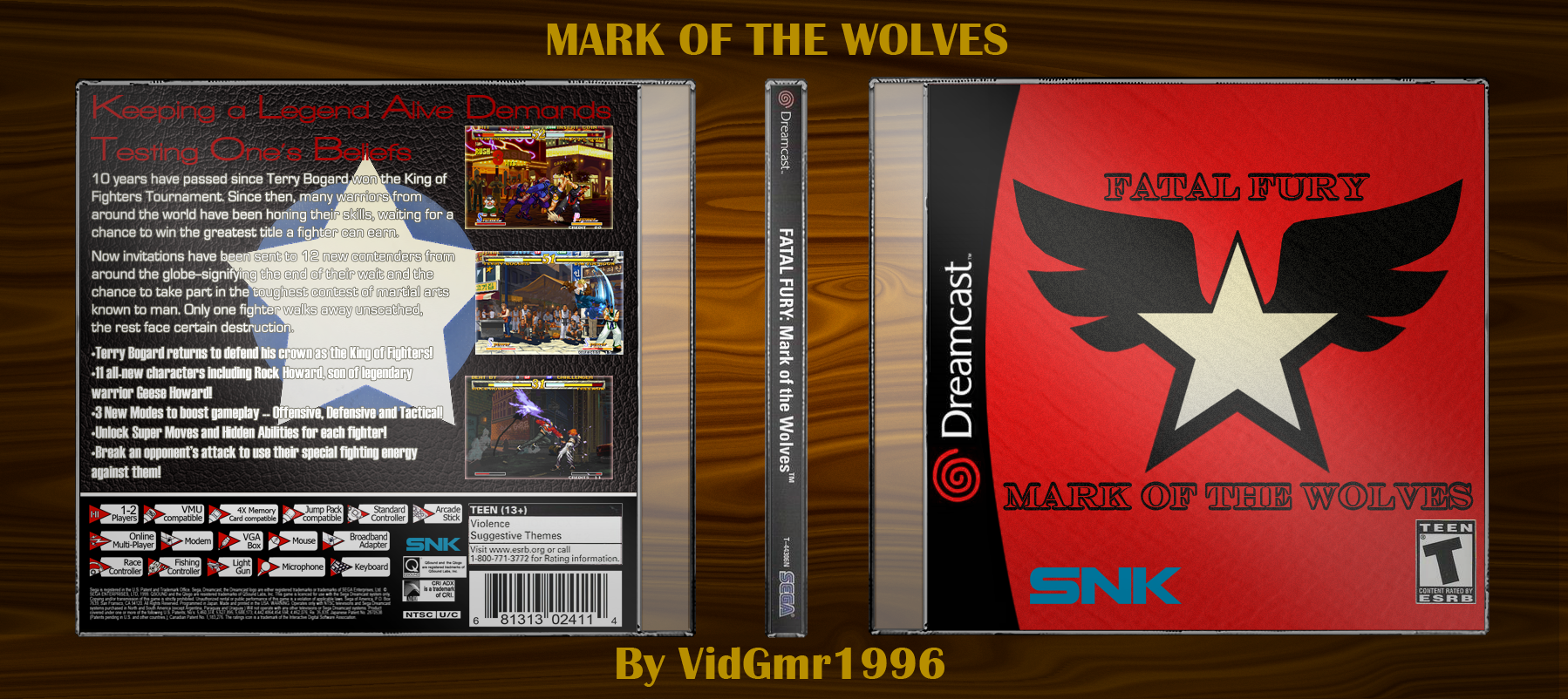 Fatal Fury: Mark of the Wolves box cover