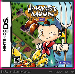Harvest Moon DS box cover