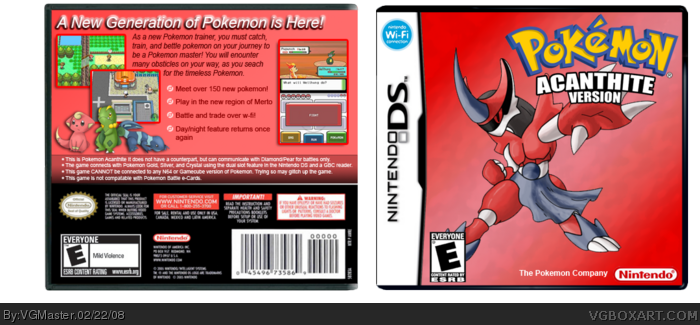 Pokemon: Acanthite box art cover