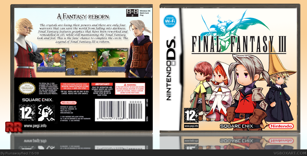 Final Fantasy III box cover