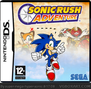 Sonic Rush Adventure box cover