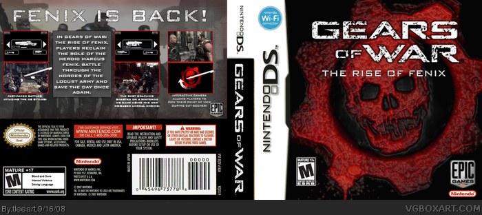 Gears of War: The Rise of Fenix box art cover