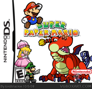 Super Paper Mario DS box cover
