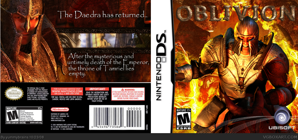 The Elder Scrolls DS: Oblivion box cover