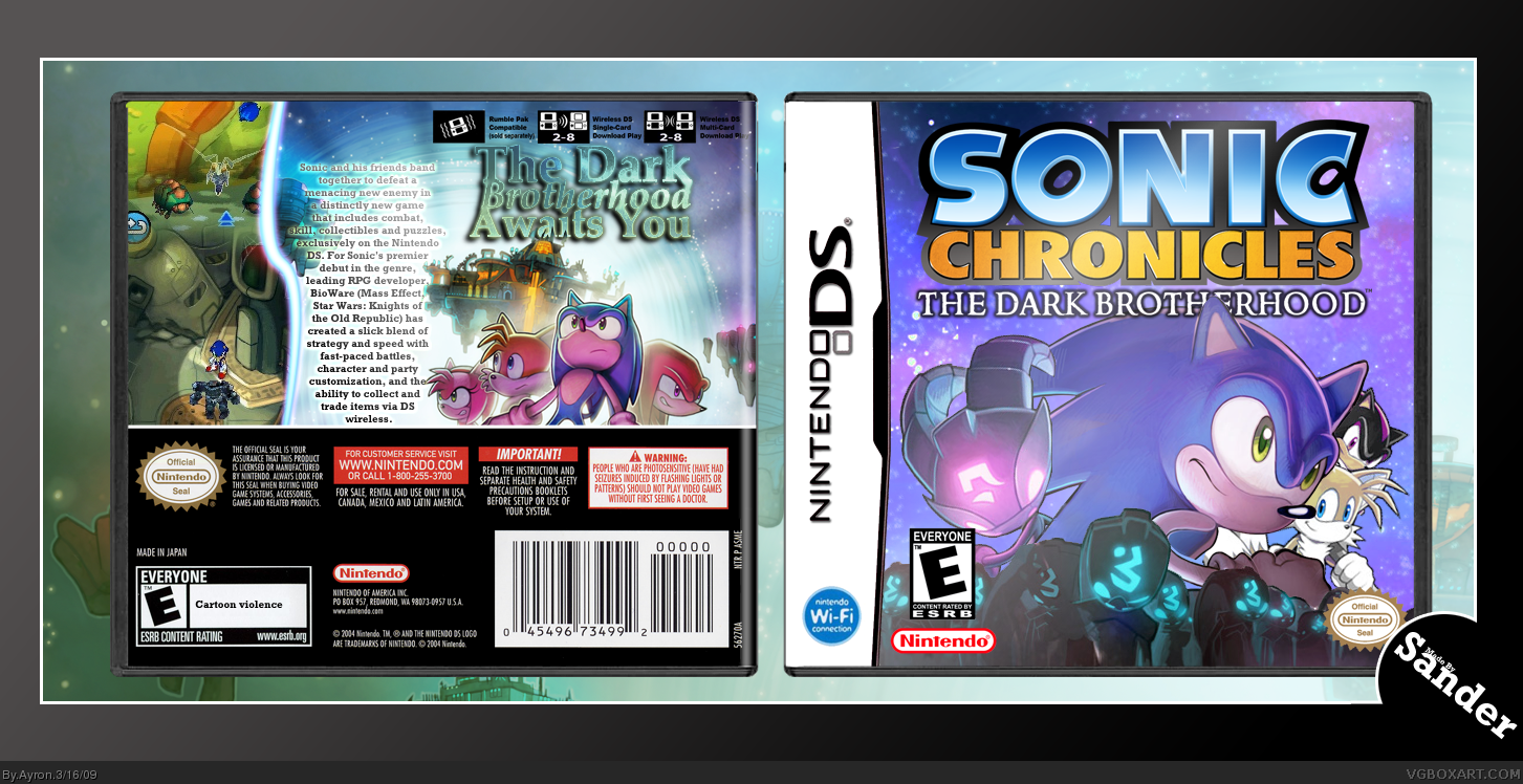 Sonic Chronicles: The Dark Brotherhood box cover