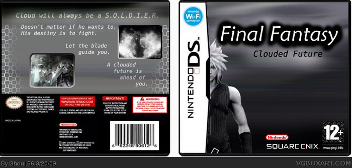 Final Fantasy Clouded Future box art cover