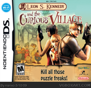 Leon S. Kennedy and The Curious Village box cover