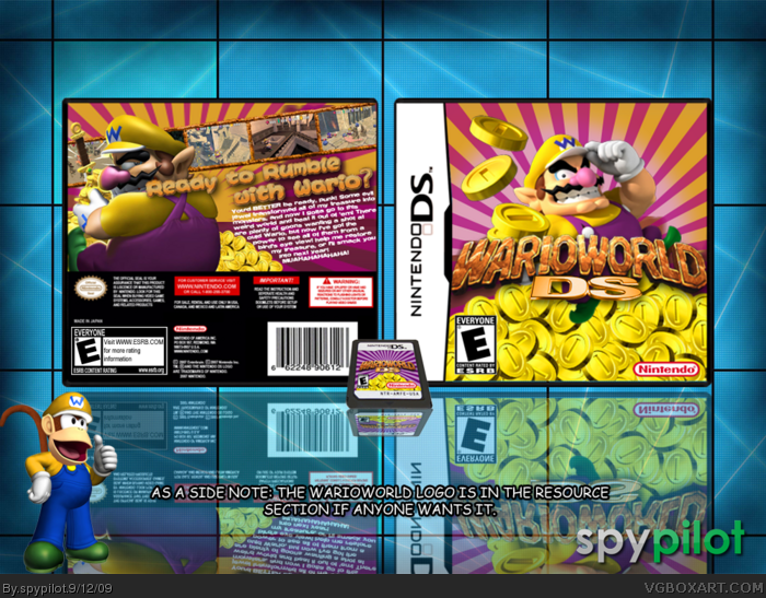 WarioWorld DS box art cover