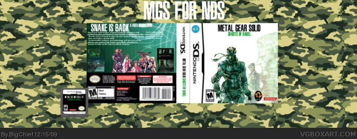 Metal Gear Solid: Ghosts of Babel box art cover
