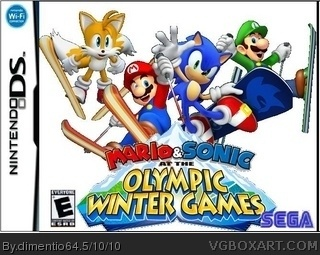 Mario and Sonic at the 2010 Winter Olympic Games box cover