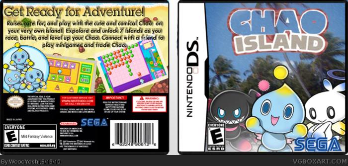 Chao Island box art cover
