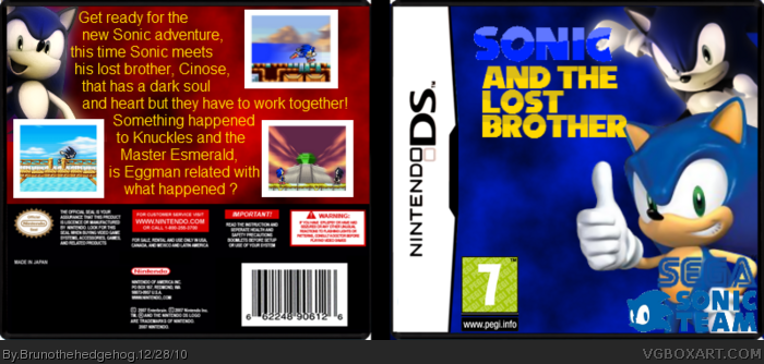 Sonic and the lost brother box art cover