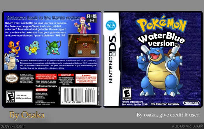 Pokemon WaterBlue version box art cover