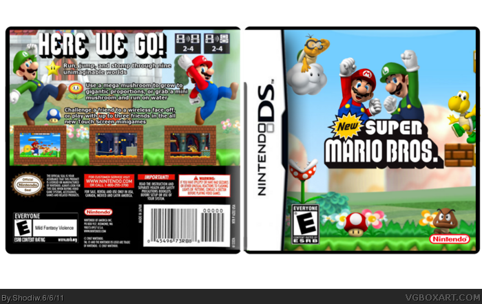 NEW Super Mario Bros. Nintendo DS Box Art Cover by Shodiw