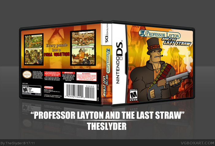 Professor Layton and the Last Straw box art cover
