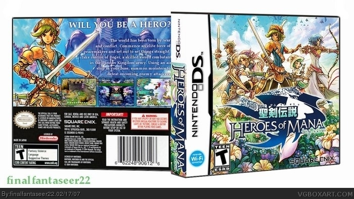 Heroes of Mana box art cover