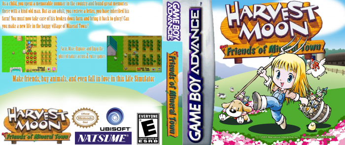 Harvest Moon Friends of Mineral Town box art cover