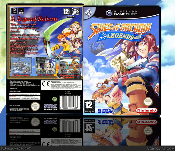 Skies of Arcadia: Legends box art cover