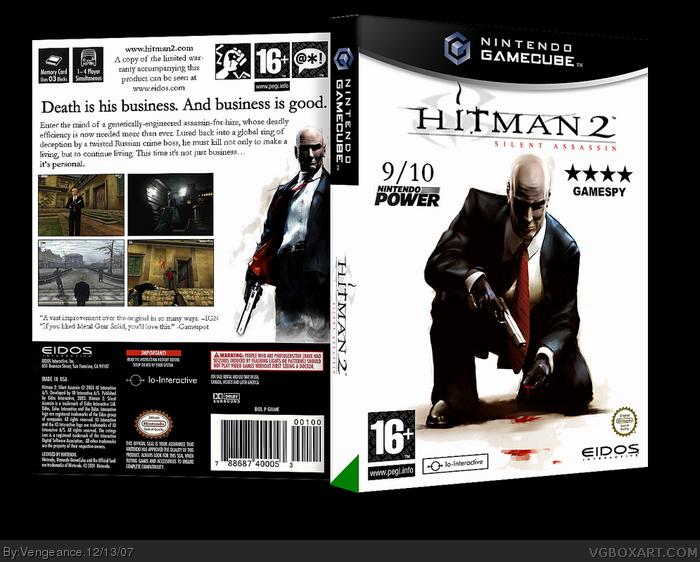 Hitman 2 Silent Assassin Gamecube Box Art Cover By Vengeance