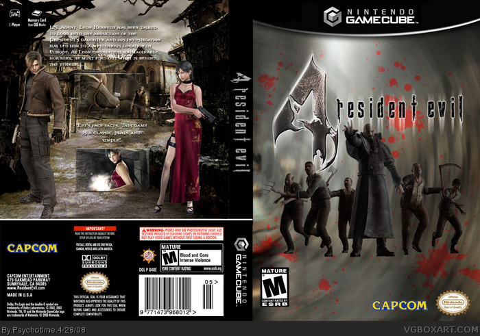 resident evil 4 gamecube cover art