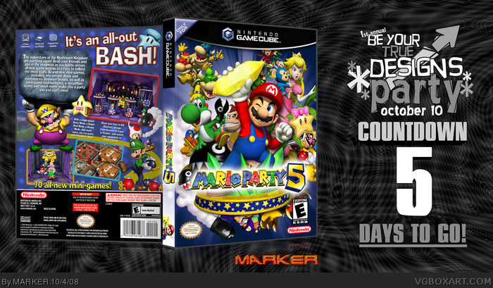 Mario Party 5 box art cover