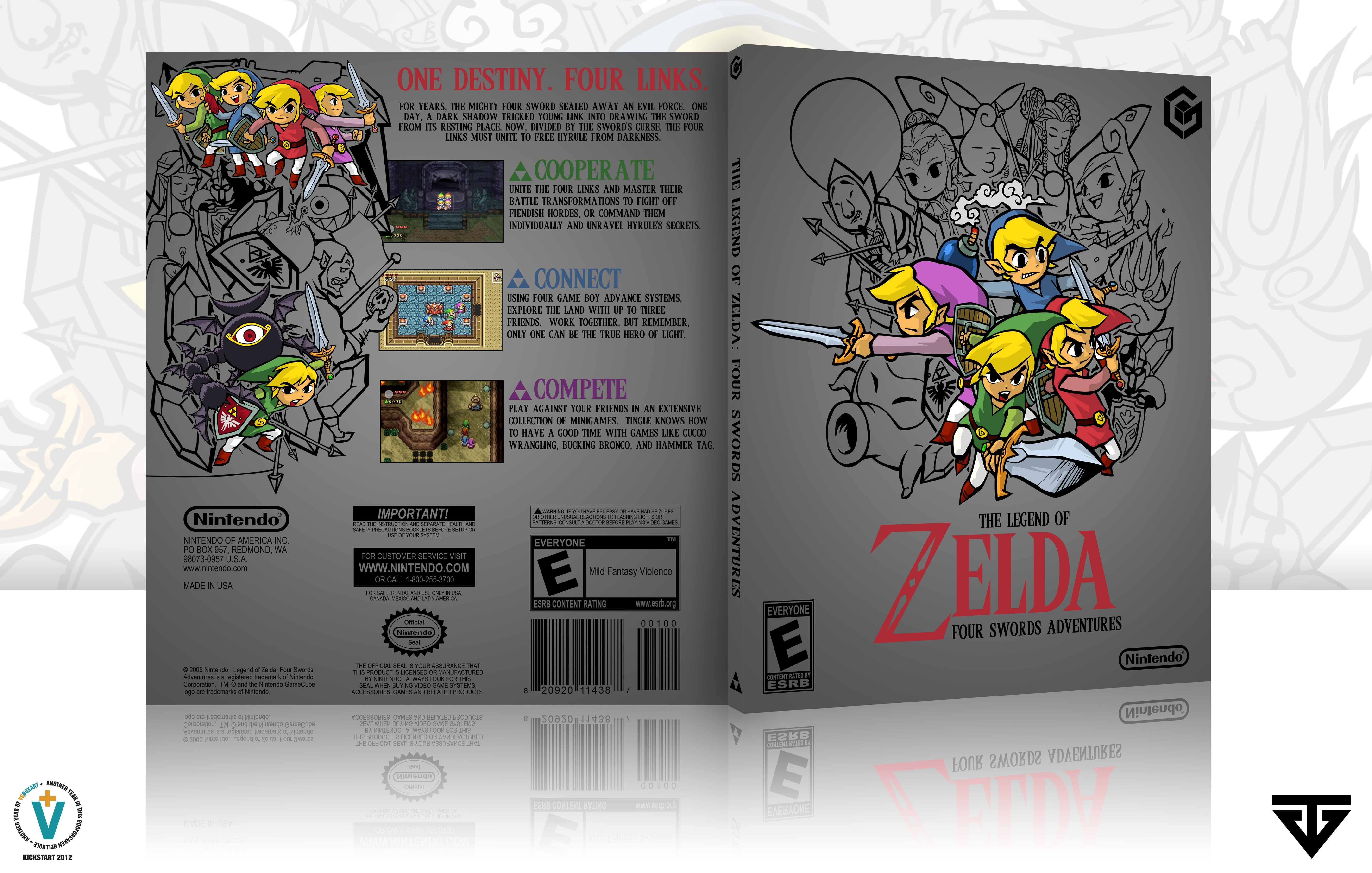 The Legend of Zelda: Four Swords Adventures box cover