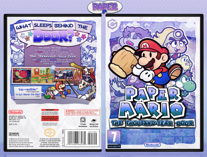 Paper Mario The Thousand Year Door box art cover