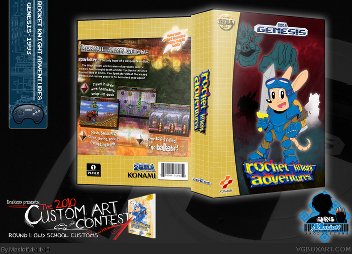 Rocket Knight Adventures box art cover