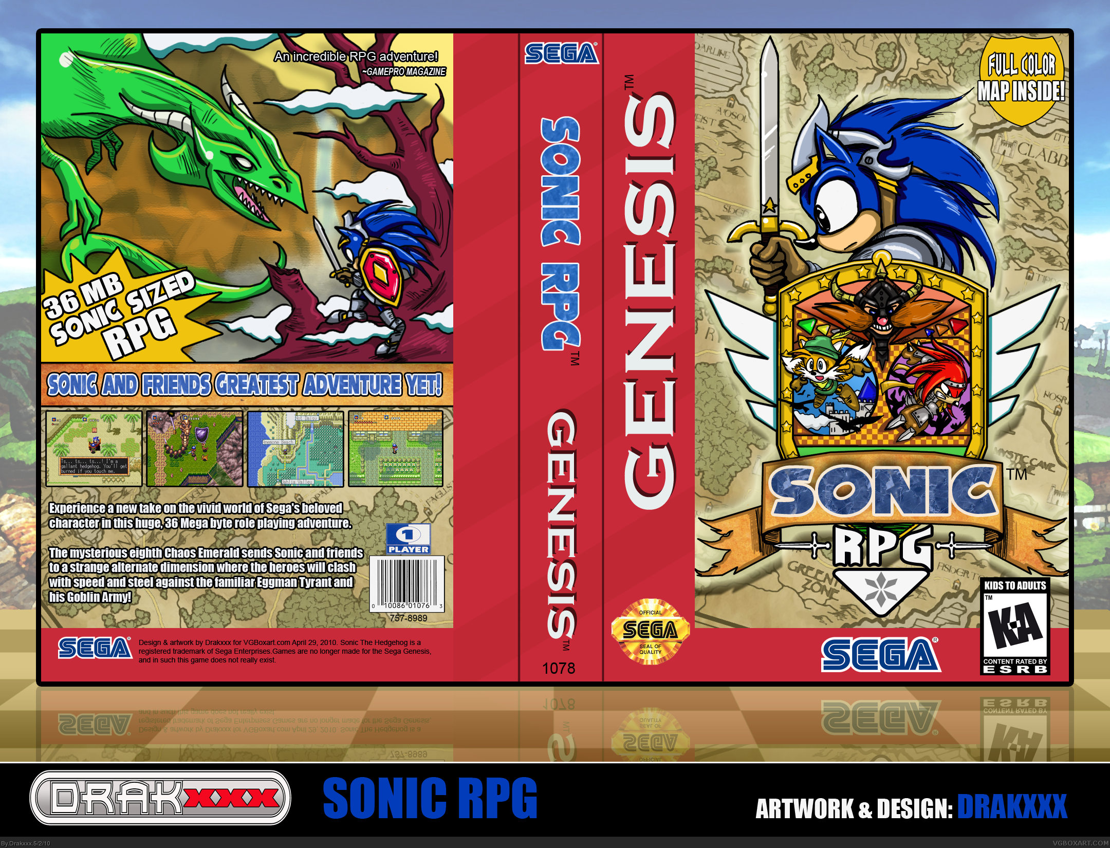 Sonic RPG box cover