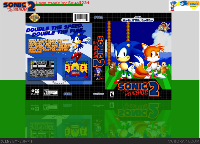 Sonic the Hedgehog: 2 box cover