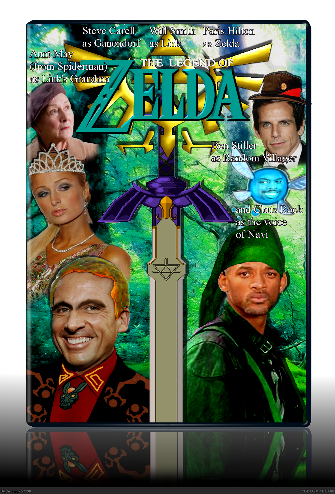 The Legend Of Zelda box cover