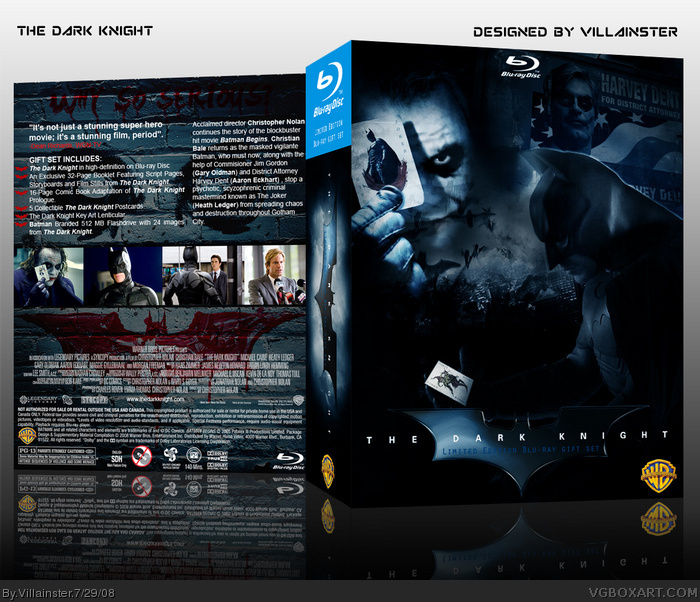 The Dark Knight Limited Edition Blu-ray Gift Set box art cover