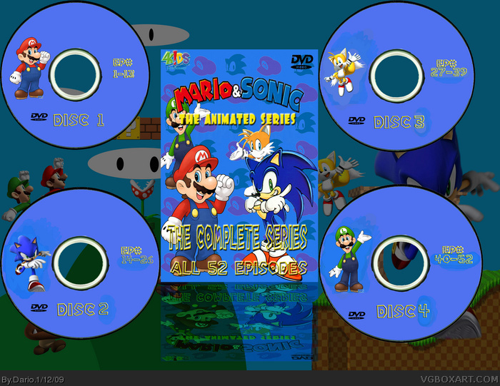 Mario and Sonic The Animated Series DVD Box Set box art cover