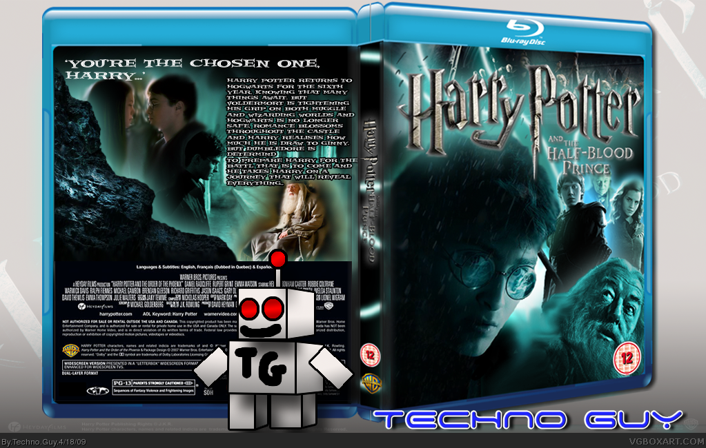 Harry Potter and The Half-Blood Prince box cover
