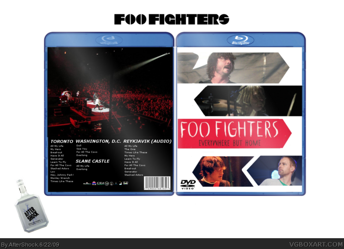 Foo Fighters - Everywhere But Home box art cover
