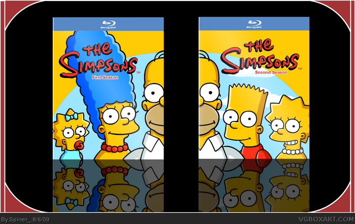 The Simpsons First Season & Second Season box art cover