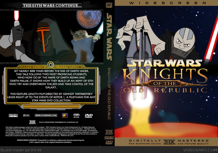 Star Wars: Knights of the Old Republic Cartoon box art cover
