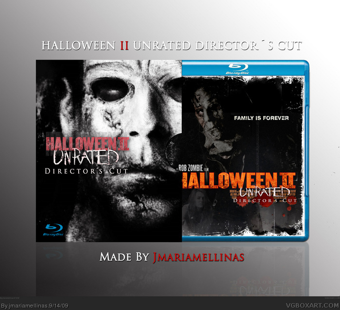 Halloween II: UNRATED box art cover