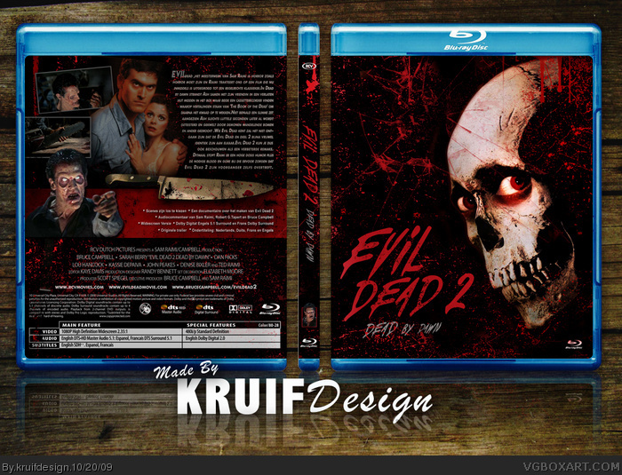 Evil Dead 2 Dead by Dawn box art cover
