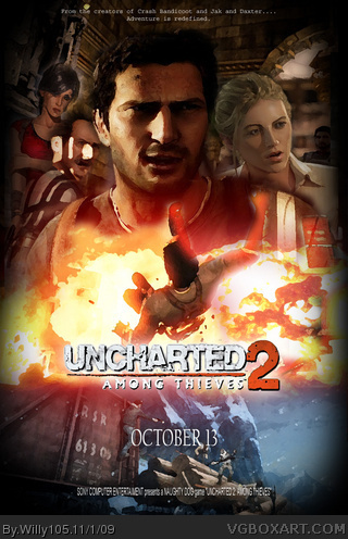 Uncharted 2 Among Thieves Movies Box Art Cover By Willy105