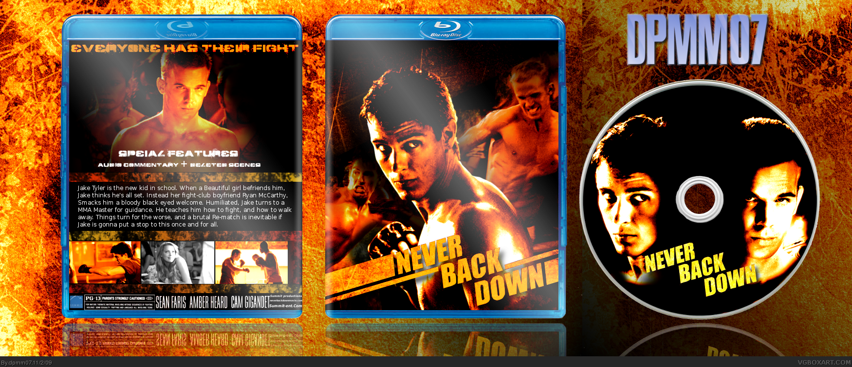 Never Back Down box cover