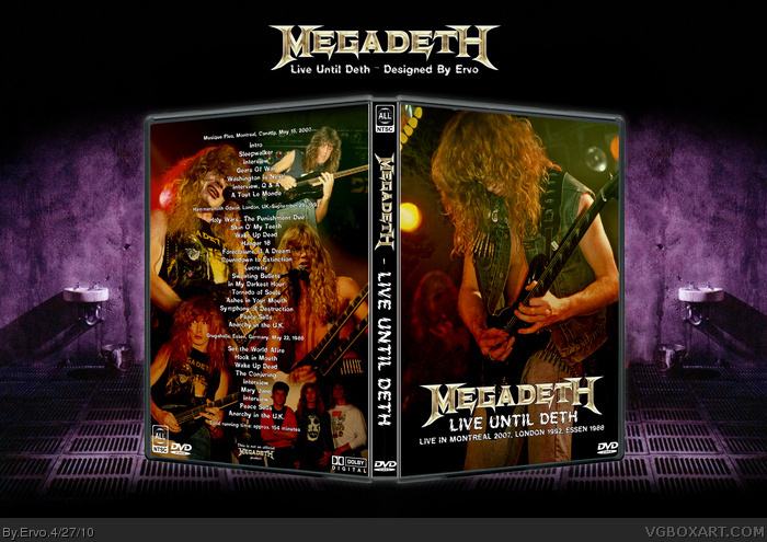 Megadeth - Live Until Deth box art cover
