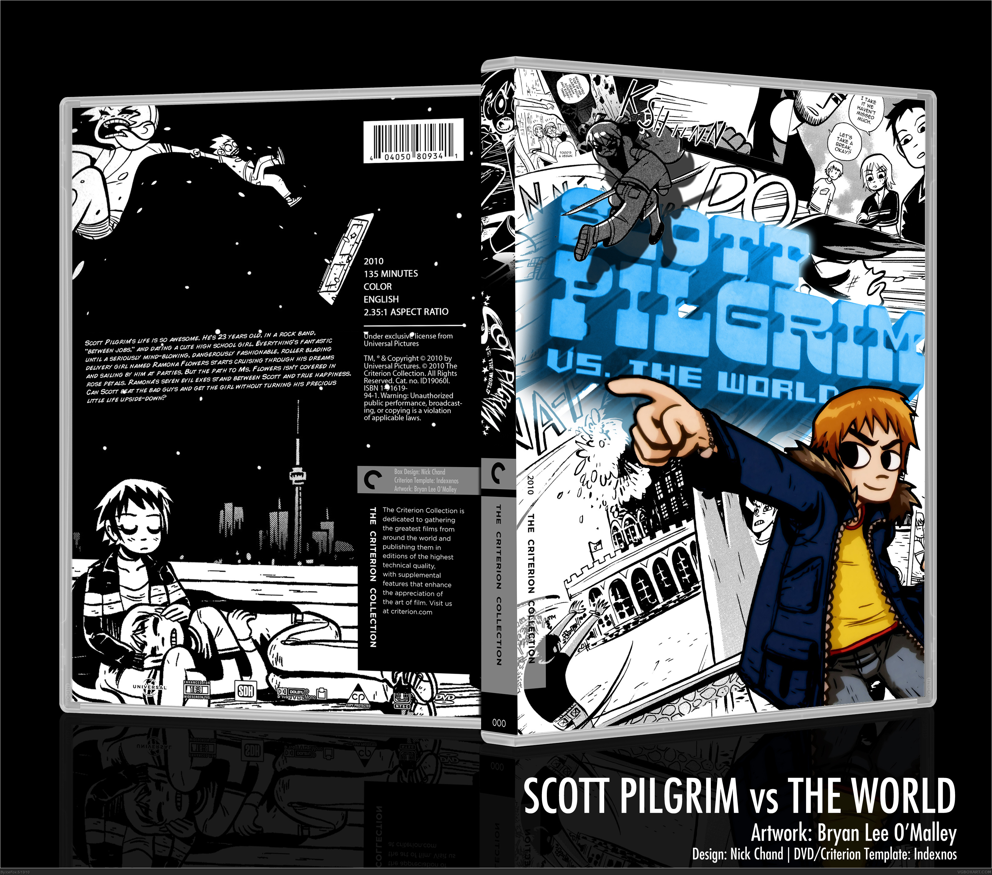 Scott Pilgrim vs The World box cover