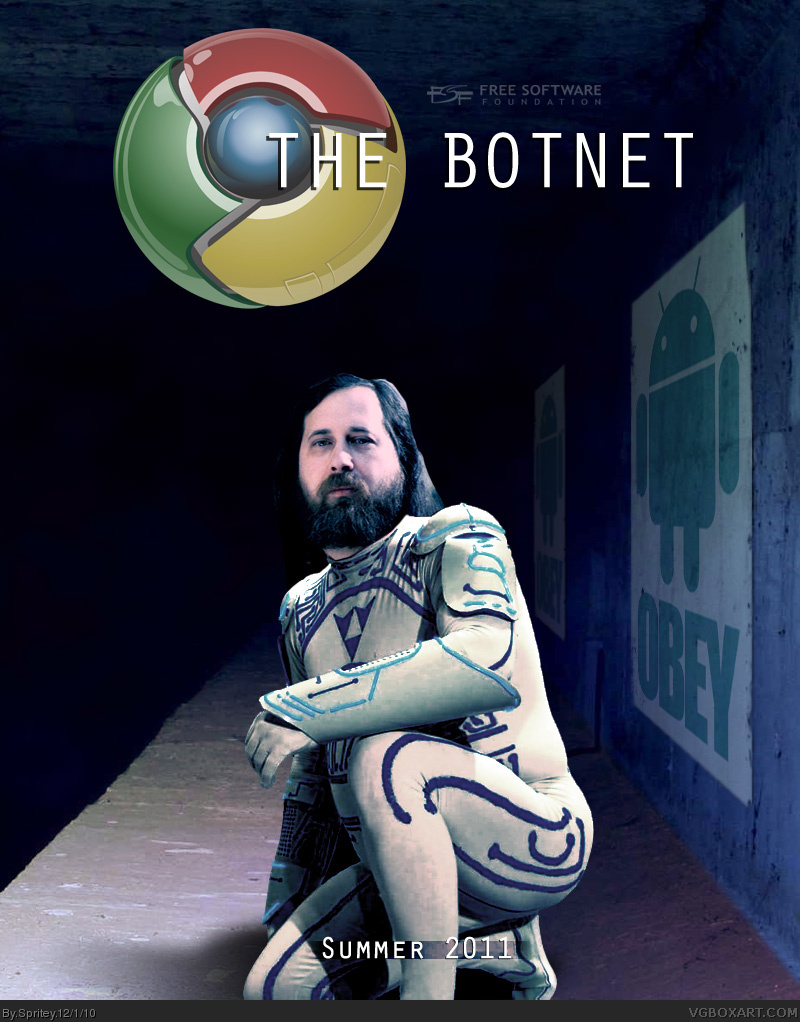 The Botnet - Starring Richard Stallman box cover