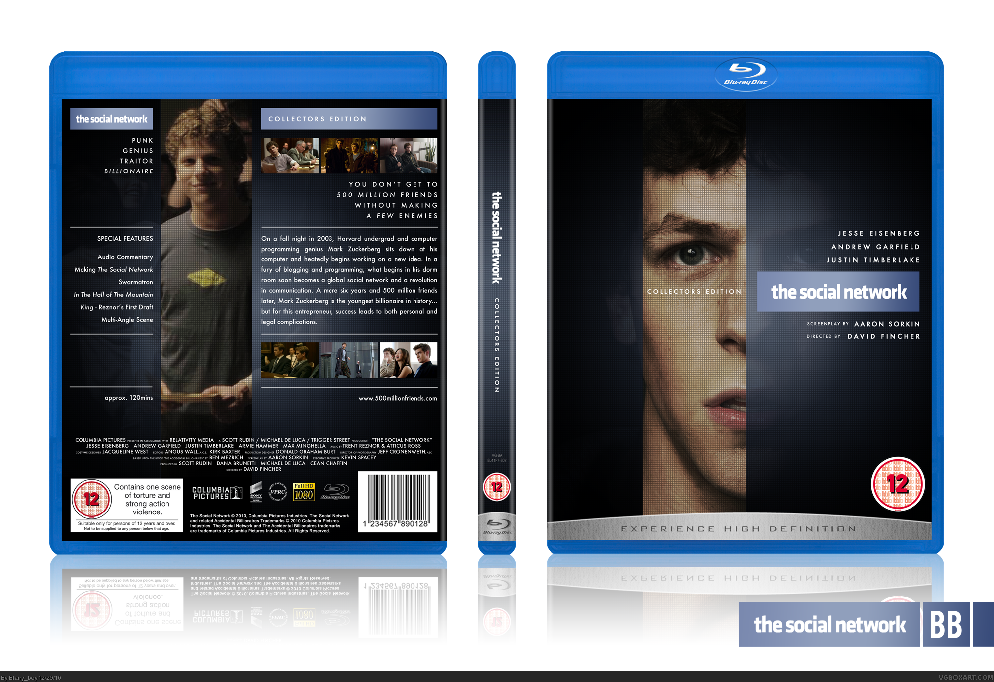 The Social Network box cover