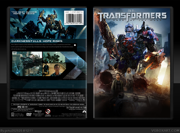 Transformers: Dark of the Moon box art cover