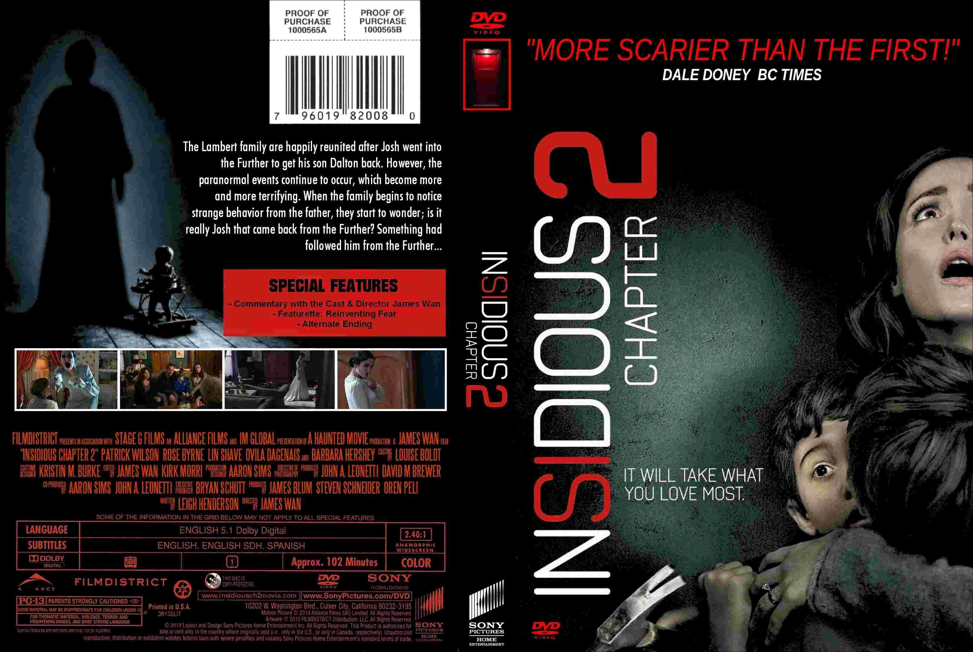 Insidious: Chapter 2 box cover