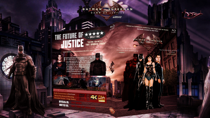Batman v Superman: Dawn Of Justice box art cover
