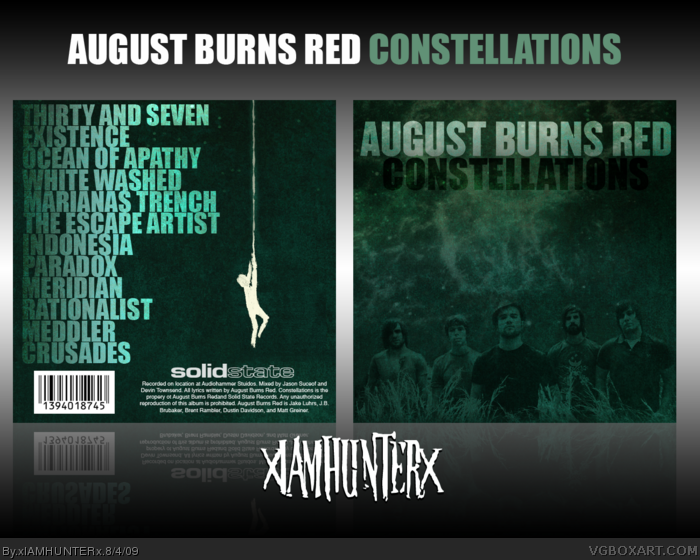 August Burns Red: Constellations box art cover
